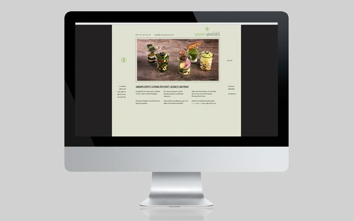 Webdesign Green Glasses