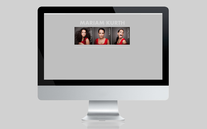 Webdesign Schauspielerin Mariam Kurth