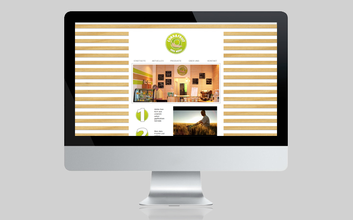 Webdesign Corn & Fruit
