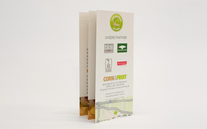 8 Seitiger Flyer Corn & Fruit 2